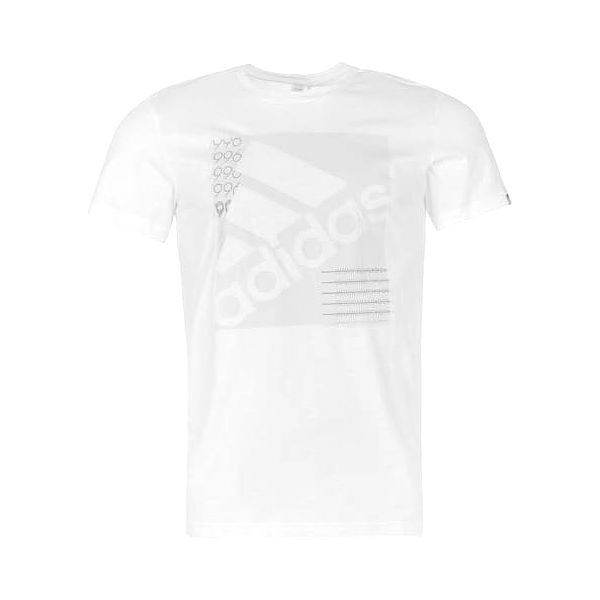 Pánské tričko ADIDAS Slanted bílé