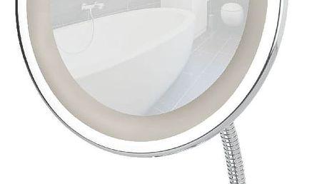 Chromované zvětšovací zrcadlo s LED světlem Wenko Style