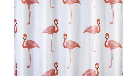 Sprchový závěs FLAMINGO, textilní, 180x200 cm, WENKO Wenko
