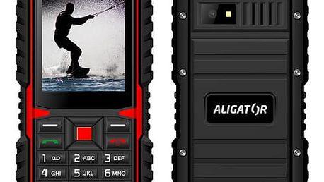Mobilní telefon Aligator R12 eXtremo černý/červený (AR12BR)