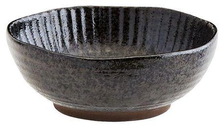 MADAM STOLTZ Kameninová miska Black, černá barva, keramika