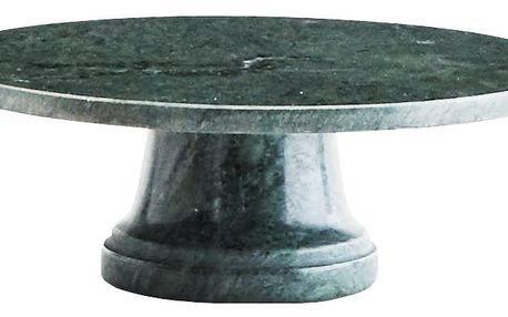 MADAM STOLTZ Mramorový stojan na dortíky Green, zelená barva, mramor