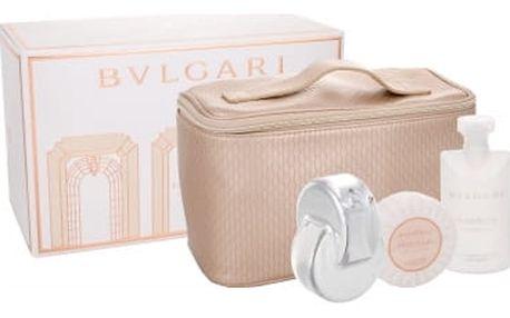 Bvlgari Omnia Crystalline dárková kazeta pro ženy toaletní voda 65 ml + tělové mléko 75 ml + mýdlo 75 g + kosmetická taška