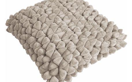 Pískově hnědý polštář ZicZac Pebble, 45x45cm