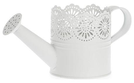 Kovová konvička Lace bílá, pr. 10 cm