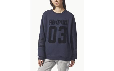 Mikina adidas Originals TREFOIL SWEATER Modrá