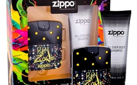 Zippo Fragrances Popzone 40 ml dárková kazeta dárková sada pro muže toaletní voda 40 ml + sprchový gel 100 ml
