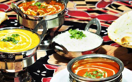 Voňavé indické menu s masem i bez pro 2 osoby