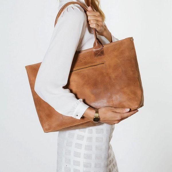 Hnědá kožená vintage kabelka O My Bag Madam Rose - doprava zdarma!4
