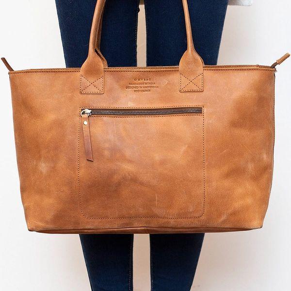 Hnědá kožená vintage kabelka O My Bag Madam Rose - doprava zdarma!5