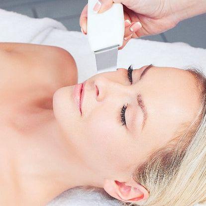 Ošetření pleti profesionální ultrazvukovou špachtlí