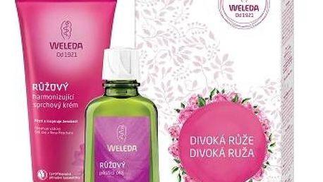 Weleda Růžový pěstící olej 100 ml + Růžový sprchový krém 200 ml dárková sada