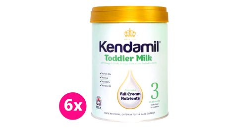 6x KENDAMIL Batolecí mléko 3 (900 g)