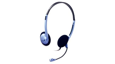 Headset Genius HS-02B stříbrný (31710037100)