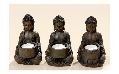 Set 3 svícnů Boltze Buddha