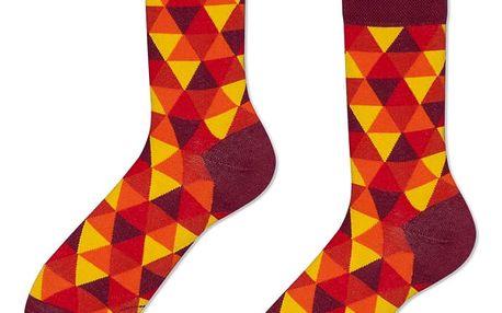 Ponožky Many Mornings Flame Triangles,vel.43–46