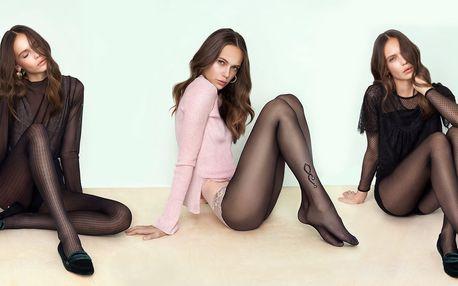 Kvalitní punčocháče Fiore ve 12 módních vzorech