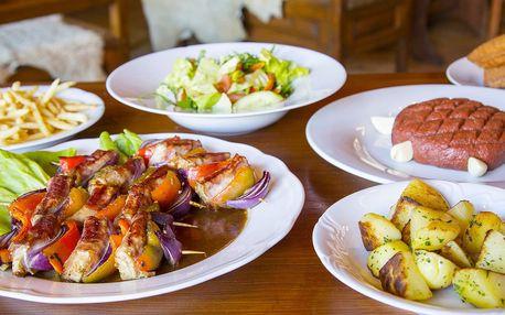 Masová hostina včetně salátu a příloh až pro 4
