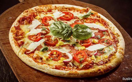 Pizza pečená na kameni dle výběru pro dva