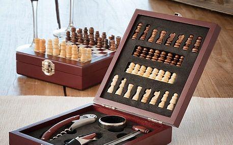 Set na Víno a Šachy InnovaGoods 37 částí