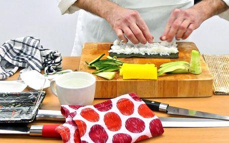 3hodinový kurz přípravy sushi s občerstvením