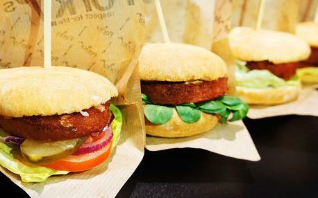 Čtyři veganské miniburgery podle výběru pro dva