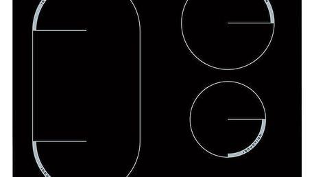 Indukční varná deska Zanussi ZEM6440FBA černá
