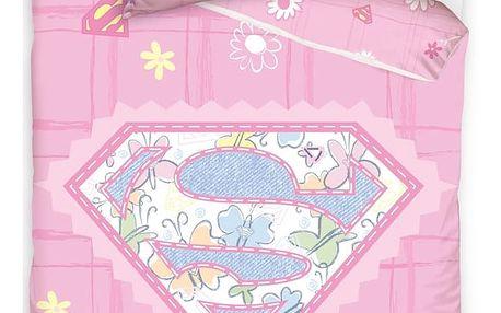Carbotex Povlečení do postýlky Little Supergirl 100x135 40x60