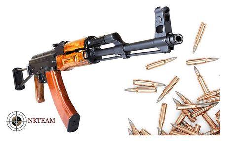 Střílení z mnoha druhů zbraní na různých střelnicích NK – teamu