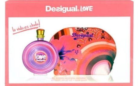 Desigual Love dárková kazeta pro ženy toaletní voda 100 ml + toaletní taška