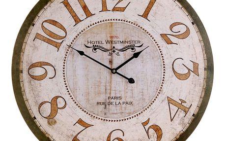 Nástěnné hodiny HOTEL WESTMINSTER - kulaté Ø 60 cm Emako
