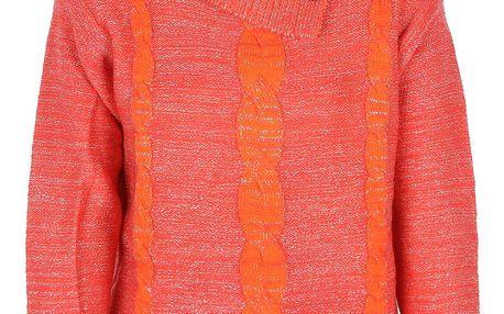 Dívčí pohodlný svetr s límečkem