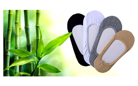 8 párů bambusových ponožek do balerínek