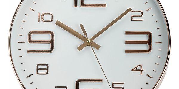 Kulaté nástěnné hodiny,měděné, 30 cm Emako