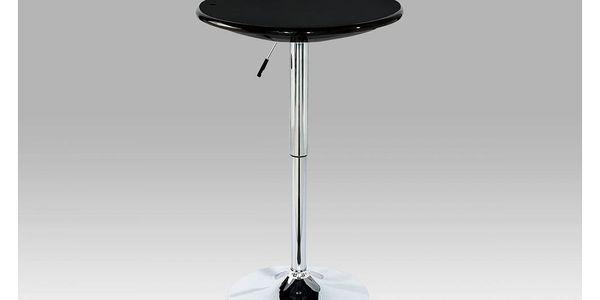 Barový stůl, černá / chrom AUB-5010 BK Autronic