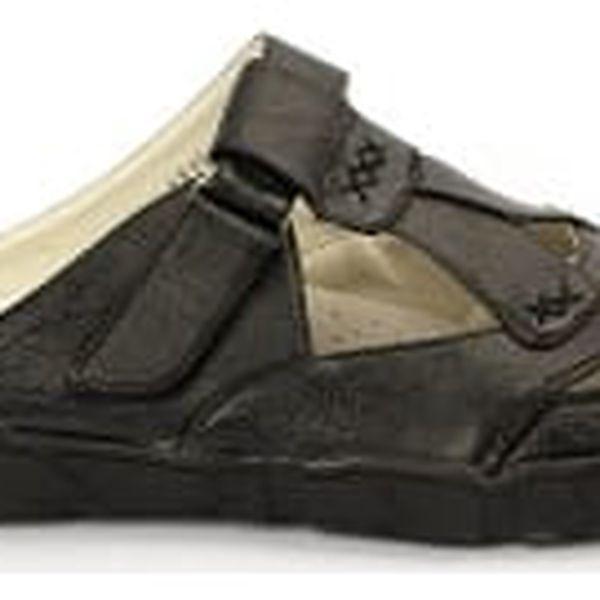 Kvalitní dámské pantofle s koženou stélkou CABIN 1 černé