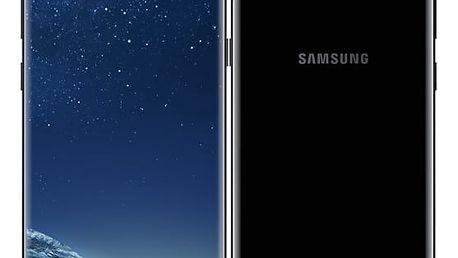 Mobilní telefon Samsung S8+ - Midnight Black (SM-G955FZKAETL) Power Bank Forever 10000 mAh 2xUSB šedá/bílá + DOPRAVA ZDARMA