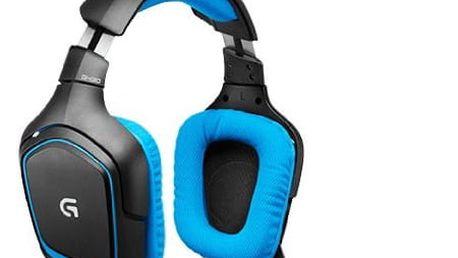 Headset Logitech Gaming G430 modrý (981-000537)
