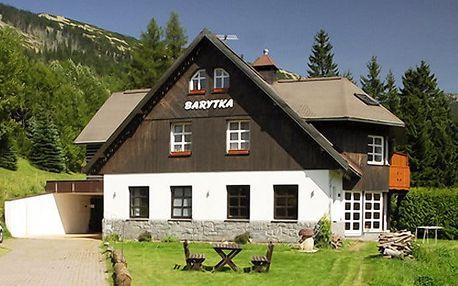 3–5denní pobyt pro 2 se snídaněmi a slevami v pensionu Barytka v Krkonoších