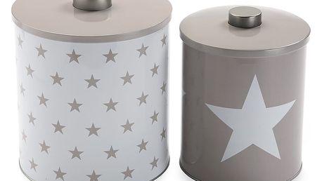 Sada 2 kovových dóz VERSA Stars