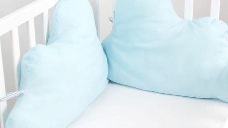 Bavlněná výstelka do postýlky Mr. Fox Nube Blue, 60x40cm