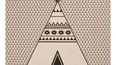 Dětský hnědý koberec Zala Living Teepee,120x170cm