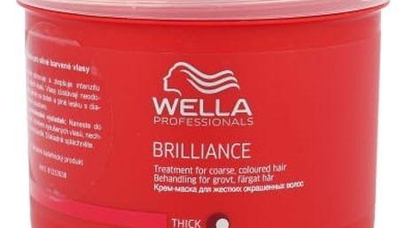 Wella Brilliance Thick Hair 500 ml maska na vlasy pro ženy