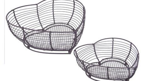 Sada 2 košíků ve tvaru srdce Ego Dekor