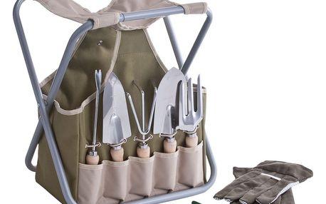 Taška na zahradní náčiní + 7x zahradního nářadí,stolek ZELLER