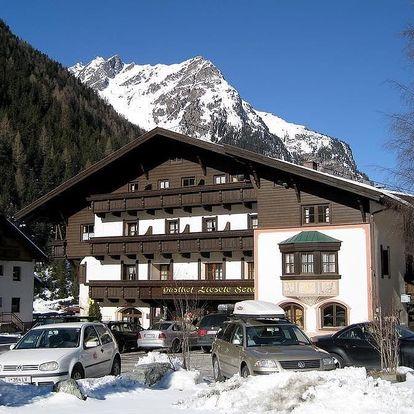 Rakousko - Pitztal na 8 dní, polopenze s dopravou vlastní