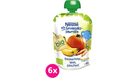 6x NESTLÉ BIO Dýně-Banán-Mrkev90g – ovocný příkrm
