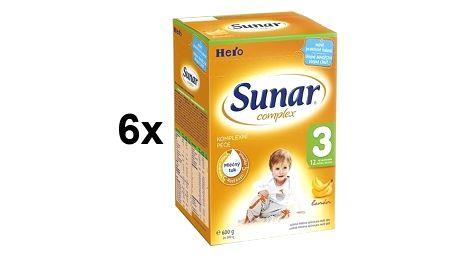 Sunar Complex 3 banán, 600g x 6ks