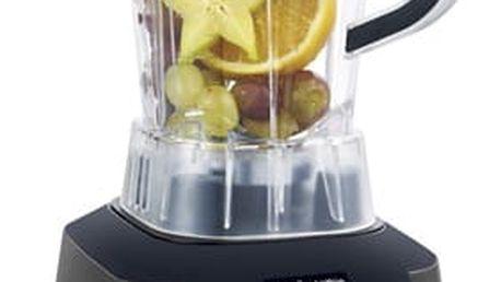 Stolní mixér G21 Vitality Smart Smoothie graphite black černý + dárek Příslušenství k robotům G21 Kniha Secret of Raw Tajemství syrové stravy v hodnotě 490 Kč + DOPRAVA ZDARMA
