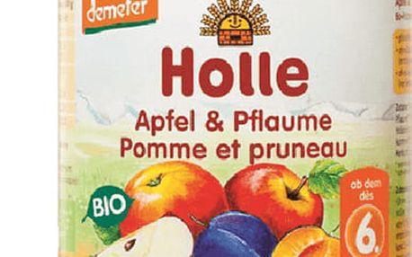 6x HOLLE Bio Jablko a švestka - ovocný příkrm, 190 g